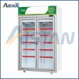 Mlg-2400 Quatre vitrine commerciale porte réfrigérateur Refroidisseur de bouteille d'affichage
