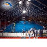 큰 스포츠 연주회를 위한 알루미늄에 의하여 구부려지는 수영풀 천막