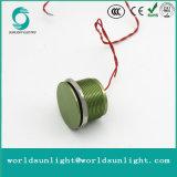 Ws163f1nom IP68 16mm grüner anodisierter flacher Bediener Flyingleads 200mA 24VAC/DC normalerweise geöffneter momentaner piezo Schalter