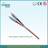 50/125 multimodo SC Pigtails de fibra óptica con la estabilidad de 0.2dB de baja pérdida de trabajo de datos