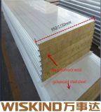 Buen aislamiento ignífugo de paneles sándwich de lana de roca para la fabricación de acero