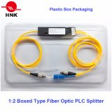 1: Tipo encajonado 2 divisores ópticos del PLC de fibra