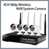 appareil-photo de système sans fil du nécessaire NVR de degré de sécurité de télévision en circuit fermé d'IP de WiFi de 4CH 960p