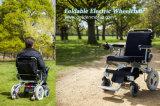 Principal fauteuil roulant électrique pliable, fauteuil roulant de pouvoir