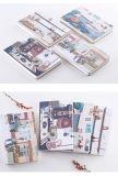 Venda quente China feita caderno da tampa macia de linha Sewing