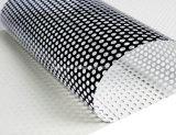 Surface brillante micro perforé Window Film vinyle couvrant une façon pour le grand format de vision