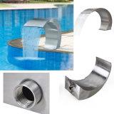 304 cascades à écriture ligne par ligne extérieures d'éclairage LED de piscine de l'acier inoxydable IP68 sautant la fontaine d'eau de cascade à écriture ligne par ligne de gicleurs