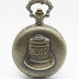 Vintage Acdc Hells Bell Tema Quartz reloj de bolsillo