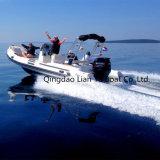 Le ce gonflable inférieur rigide de bateau de vitesse de bateaux de Liya 22FT a reconnu