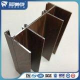 Profils de châssis de fenêtre en aluminium des graines en bois de chêne d'OEM 6063t5