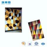 Panneau de mur acoustique décoratif de fibre de polyester d'épreuve d'incendie/panneau de plafond