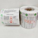 Étiquette médicale d'officine de Rx de collant de contrainte