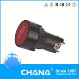 Interruptor de tecla elétrico do retorno da mola da tecla do resplendor de 22mm