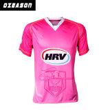 Spitzenverkaufs-Frauen-Kricket-Jersey-rosafarbene Kricket-Hemden