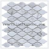 Mosaico della pietra del marmo di bianco cinese per le mattonelle di mosaico del pavimento