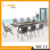 Стул и таблица отдыха гостиницы порошка распыляя домашние при алюминиевый напольный сад обедая мебель