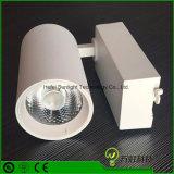 Las ventas de fábrica LED 40W foco ajustable COB Blanco/Negro de la luz de la pista