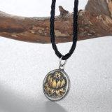 Scandinavian Lotus Viking Collier slaves ronde géométrique pour les hommes