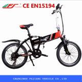 Fujiang, das elektrisches Fahrrad mit wahlweise freigestelltem Accessoires faltet
