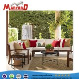 European Modern Simple Fabric Sofa with Teak Wooden Outdoor Sofa and Loveseat