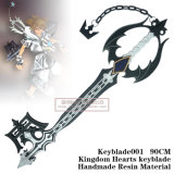Chave preta Keyblade001 do reino de Sora dos corações do reino