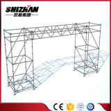 Tuv-SGS quadratischer runder Rohr-Beleuchtung-Dach-Binder-Systems-Diplombinder