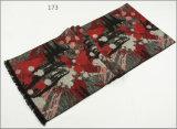 Зимы чывства кашемира женщин шарф печатание цветка диаманта Unisex реверзибельной теплый проверенный толщиной связанный сплетенный (SP271)