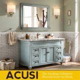 Vanité moderne de vente chaude de salle de bains en bois solide de type avec le miroir (ACS1-W67)
