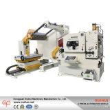 Das Zusatzblech-führende Abwickelen und das Geraderichten von Maschine 3 in 1 betätigen (MAC4-1000)
