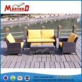 新式のアルミニウム屋外の柳細工の庭の家具の藤のソファーセット