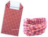 中国の工場農産物によってカスタマイズされるデザインによって印刷される赤く継ぎ目が無い首の管状のスカーフ