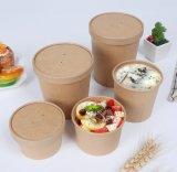 Papier Kraft biodégradable une soupe chaude conteneur sortir les cuvettes de l'emballage alimentaire