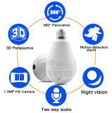 Nuevamente cámara del IP de la seguridad de la cámara de la bombilla del CCTV de 360 grados