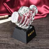 Деловое сотрудничество подарок Персонализированные пользовательские исламской Crystal Встряхивание руки трофей