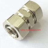 Guarnición de cobre amarillo niquelada recta igual al por mayor de la compresión