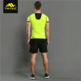 Camisa al aire libre del color del deporte de los hombres de la camiseta de las camisas brillantes de la gimnasia