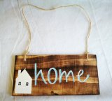 Wood Tag Welcome Home Easter Decoration