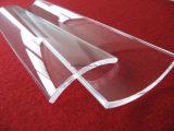 투명한 융합된 석영 아치 격판덮개