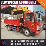 3ton 5ton 접히거나 똑바른 기중기를 가진 트럭에 의하여 거치되는 기중기 트럭