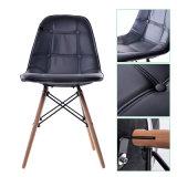 木製の足を搭載する黒く高い背皮PUの椅子