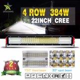 Quarte en aluminium 384W de boîtier barre d'éclairage LED de 22 pouces pour tous terrains