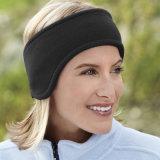 Fascia polare di Headwear del pattino del panno morbido dell'orecchio della fascia calda unisex nera di inverno