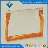 Impresa personalizada PVC transparente bolsa Ziplock con asa