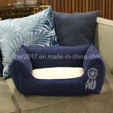 مظلمة - زرقاء مربّعة محبوب منتوجات كلب سرير محبوب سرير