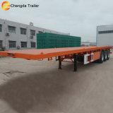 Cubierta plana del eje 3 contenedores de superficie plana de 60 toneladas remolque semi
