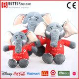 ASTM 현실적 박제 동물 살아있는 것 같은 연약한 장난감 견면 벨벳 코끼리
