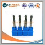 O carboneto de tungsténio plana/Nariz de Esferas/ Extremidade Esférica Mill com 4 estrias