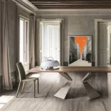 Le ciment de la céramique en porcelaine émaillée rustique de style européen pour la chambre carrelage de sol (BR6003)