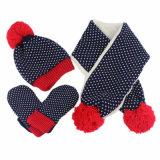 Reeks van de Sjaal van de Handschoen van de Hoed POM Beanie van de Winter POM van de Meisjes van de Jongens van de Kinderen van de Baby van jonge geitjes de Unisex- (417S)
