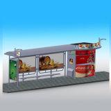 Abri chinois actionné solaire d'arrêt de bus avec le cadre léger de publicité